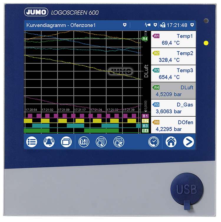 JUMO LOGOSCREEN 600 - Paperless Recorder with Touchscreen (706520)